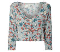 Cropped Blusenshirt mit floralem Muster