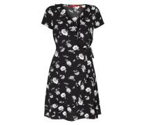 Kleid mit Volantbesatz und Schnürung
