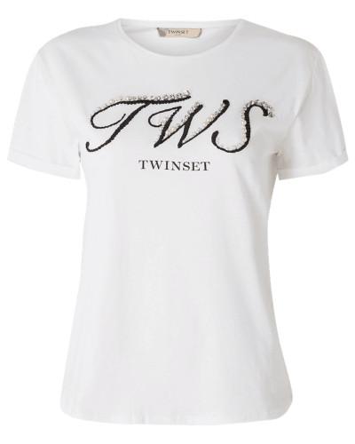 T-Shirt mit Kontrastdetails