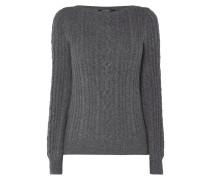 Pullover mit Zopfstrickdetails