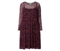 PLUS SIZE - Kleid aus Mesh mit floralem Muster