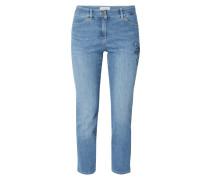 Modern Fit Jeans mit floralen Stickereien