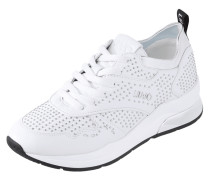 Sneaker Wedges aus Leder mit Nietenbesatz