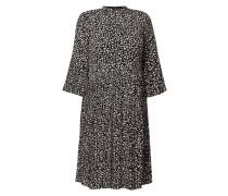 Kleid aus Krepp mit Plisseefalten