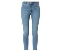 Skinny Fit Jeans mit Reißverschlüssen