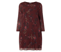 PLUS SIZE Kleid aus Krepp mit Plisseefalten