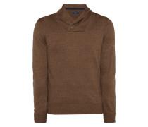 Pullover mit geknöpftem Schalkragen