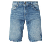 Stone Washed Regular Fit Jeansshorts