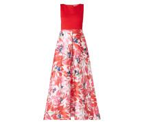 Two-Tone-Abendkleid mit floralem Rockteil