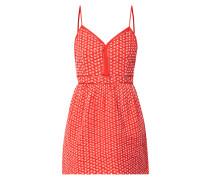Kleid mit Muster aus Lochstickerei