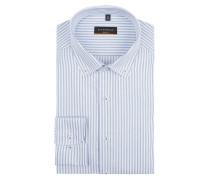 Slim Fit Business-Hemd mit Button-Down-Kragen