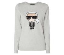 Sweatshirt mit Karl-Stickerei
