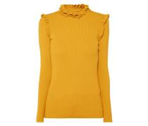 Pullover mit Rüschenbesatz