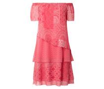 PLUS SIZE - Off Shoulder Kleid im Stufen-Look
