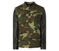 Jacke mit Ärmeln aus Leder Modell 'Connor'