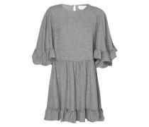 Kleid in Melangeoptik mit Glockenärmeln