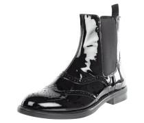 Chelsea Boots in Lackoptik mit Lyralochung