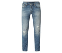 Slim Tapered Fit Jeans im Destroyed Look