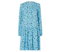 Kleid aus Viskose mit Volantsaum
