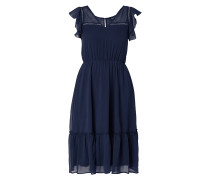Kleid aus Chiffon mit Volantärmeln
