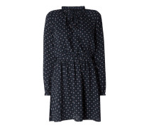 Kleid mit gerüschtem Stehkragen