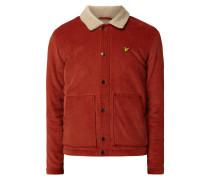 Jacke aus Cord mit Webpelzkragen