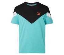 Slim Fit T-Shirt im dreifarbigen Design
