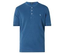 Serafino-Shirt aus Mesh-Piqué