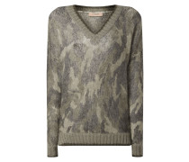 Longpullover mit Camouflage-Muster