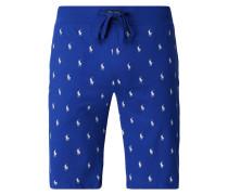 Pyjamashorts mit Logo-Muster