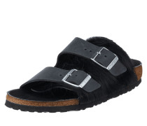 Sandalen 'Arizona' aus Leder mit Fellbesatz