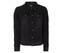 Slim Fit Jeansjacke aus Coloured Denim