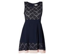 Two-Tone-Kleid mit floraler Spitze