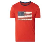 Custom Slim Fit T-Shirt mit Logo-Aufnäher