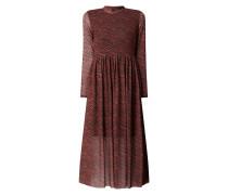 Kleid aus Mesh mit Allover-Muster