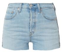 Jeansshorts mit Knopfleiste