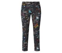 Slim Fit 5-Pocket-Jeans mit Allover-Muster