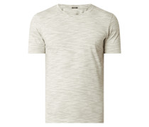 T-Shirt mit gestreiftem Webmuster