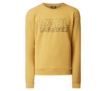 Sweatshirt mit gummiertem Logo-Print