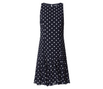 Kleid aus Chiffon mit Punktemuster