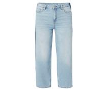 Bleached Wide Leg Jeans - verkürzt