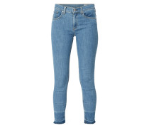 Cropped Rinsed Washed Jeans