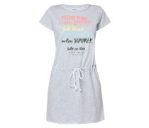 Sweatkleid mit Message-Print