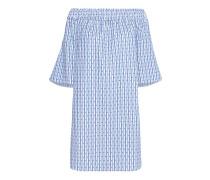 Off Shoulder Kleid mit Streifenmuster