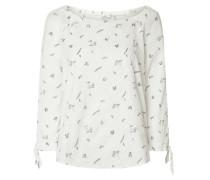 Blusenshirt aus Baumwolle mit Lochstickereien