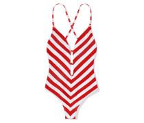 Striped Bathingsuit Gigi Hadid