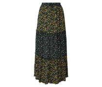 Maxirock aus Viskose mit floralem Muster