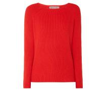 Pullover mit seitlichen Schnürungen