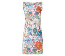 Kleid mit floralem Muster und Rüschen