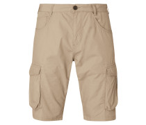 Regular Slim Fit Cargobermudas aus Baumwolle